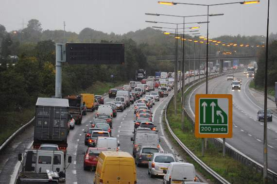 TRAFFIC: Accident blocking London-bound A13 between Basildon and Thurrock as road covered in polystyrene