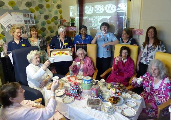 Patients at Basildon Hospital celebrate Dame Vera Lynn's 100th birthday