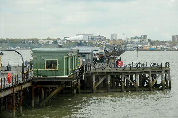 High tide at Southend Pier (BST):